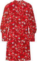 Erdem Mirela Floral-print Silk Dress - UK10