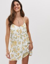 rhythm Sienna playsuit in lemon floral