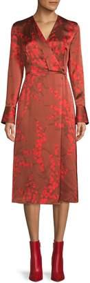 Equipment Willowe Silk Wrap Midi Dress