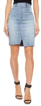 Spanx Women's Distressed Denim Skirt