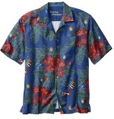 Tommy Bahama Men's Big & Tall 'Harbour Lights' Print Silk Camp Shirt