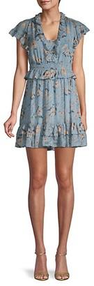 Rebecca Taylor Ruffled Silk Mini Dress