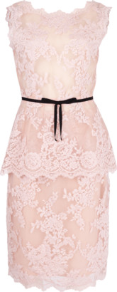 Marchesa Corded Lace Top And Skirt