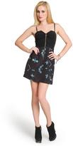 Vena Cava Digital Print Front-Zip Dress
