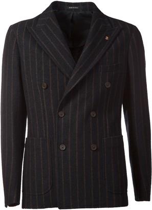 Tagliatore Double-breasted Striped Blazer