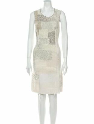 Oscar de la Renta 2012 Knee-Length Dress White