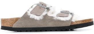 Birkenstock Arizona two-strap shearling sandals