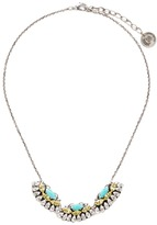Anton Heunis Swarovski crystal fan charm necklace