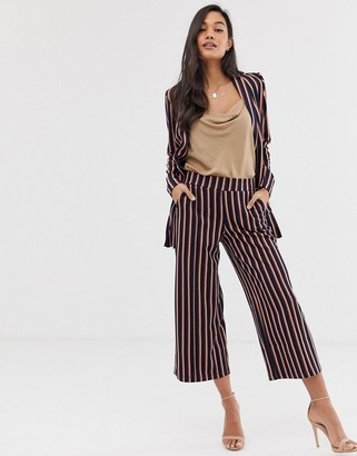 Ichi stripe culotte suit trousers