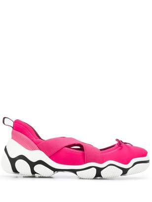 RED Valentino RED(V) cross-over strap sneakers