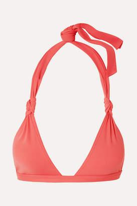 Eres Poker Damier Triangle Bikini Top - Coral