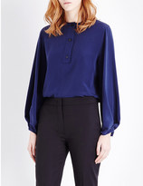 Sportmax Pisano silk-georgette top