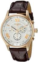 Jorg Gray Men's Quartz Watch with Silver Dial Analogue Display and Brown Leather Strap JG6600-23