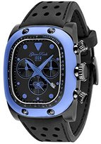 Glam Rock Unisex GR70107 Gulfstream Collection Chronograph Black Silicon Watch