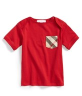 Burberry Toddler Boy's 'Callum' Check Print Chest Pocket Cotton T-Shirt