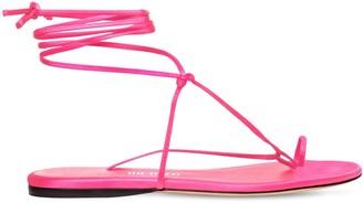 ATTICO 10mm Satin Thong Sandals