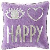 I Heart Happy Throw Pillow