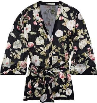 Alice + Olivia Rosario Floral-print Fil Coupe Chiffon Kimono Top