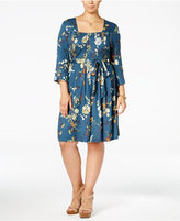 American Rag Trendy Plus Size Smocked Dress, Only at Macy's