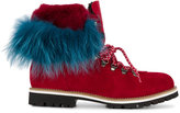 Mr & Mrs Italy - rabbit fur lined boots - women - Rabbit Fur/Suede/rubber - 35