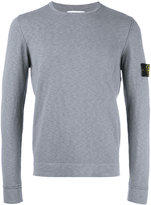 Stone Island logo patch sweatshirt - men - Cotton/Polyamide - XL