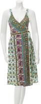 Calypso Printed Wrap Dress w/ Tags