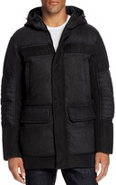 MICHAEL Michael Kors Luxe Flannel Mixed Media Hooded Jacket