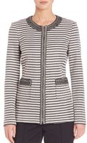 St. John Striped Knit Jacket