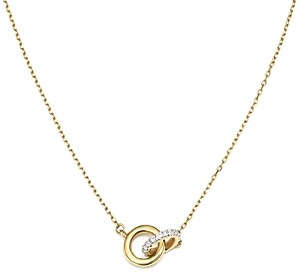 Adina 14K Yellow Gold Pave Diamond Interlocking Loop Necklace, 15
