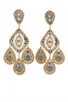 Miguel Ases Chandelier Beaded Drop Earrings