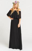 MUMU Hacienda Maxi Dress ~ Black Chiffon