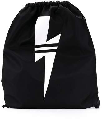 Neil Barrett Kids lightning bolt backpack