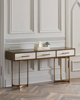 John-Richard Collection Lyle Console Table, Gold
