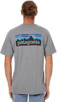 Patagonia P6 Logo Mens Tee Grey