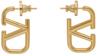 Valentino Gold Garavani Small VLogo Earrings