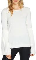 CeCe Women's Pleated Bell Sleeve Sweater