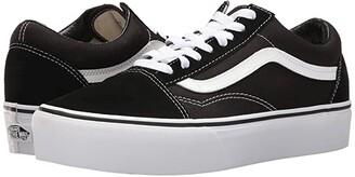 Vans Old Skool Platform (Black/White) Skate Shoes