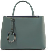 Fendi 2jours Petite Leather Shopper - Gray green