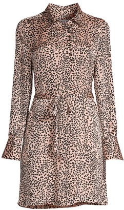 Equipment Temera Leopard-Print Shirtdress