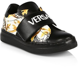 Versace Baby & Little Girl's & Girl's Logo Strap Sneakers