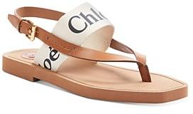 Chloé Women's Woody Logo Sandals