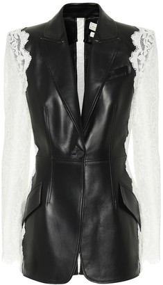 Alexander McQueen Leather and lace blazer