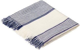 OKA Large Dinard Tablecloth - Off-White/Blue