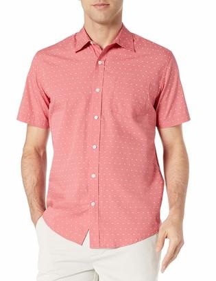 Amazon Essentials Men's Short-Sleeve Regular-Fit Casual Poplin Shirt Shirt