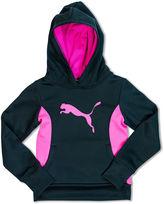 Puma Tech Cat Long-Sleeve Knit Hoodie - Preschool Girls 4-6x