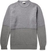 John Smedley Merino Wool and Cashmere-Blend and Sea Island Cotton Sweater