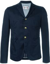Moncler Gamme Bleu three button blazer - men - Cotton/Cupro - 5