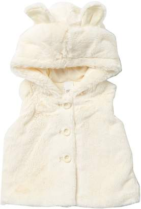 Harper Canyon Faux Fur Hooded Vest (Baby Girls)