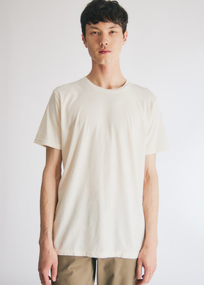 NEED Men's Short Sleeve Dye T-Shirt in Ivory, Size Extra Small | 100% Cotton