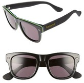 Havaianas Women's Brasil 50Mm Square Sunglasses - Black
